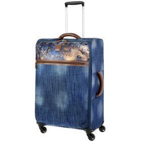 IT Luggage The-Lite Metallic Denim średnia walizka