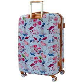 IT Luggage Warrior Blue & Pink Summer Floral Print duża walizka L