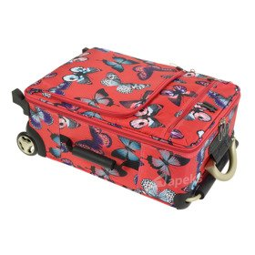 IT Luggage World's Lightest Red Butterfly mała walizka kabinowa