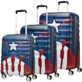 American Tourister Wavebreaker Disney zestaw walizek / komplet / walizki na 4 kółkach / Captain America Close-Up