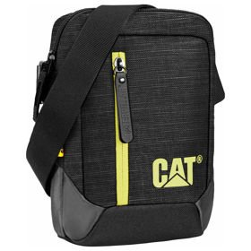 "Caterpillar The Project torba na ramię / saszetka - tablet 7"" CAT / czarno - limonkowa"