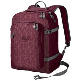 Jack Wolfskin Berkeley plecak miejski / Garnet Red Geometric Leaves