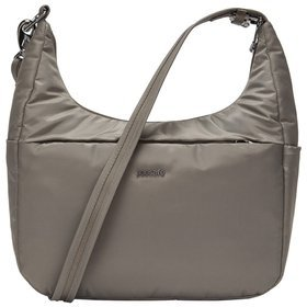 "Pacsafe Cruise All Day Crossbody damska torba antykradzieżowa na ramię / na tablet 10"" / Ashwood"