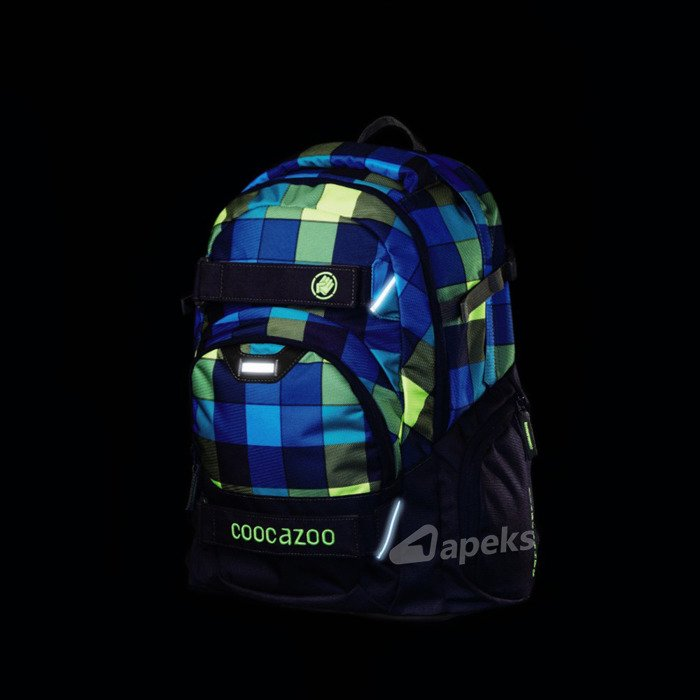 Coocazoo CarryLarry II plecak szkolny 44 cm / Green Purple District